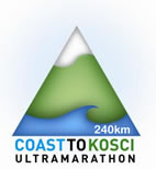 Coast to Kosci Triangular Logo